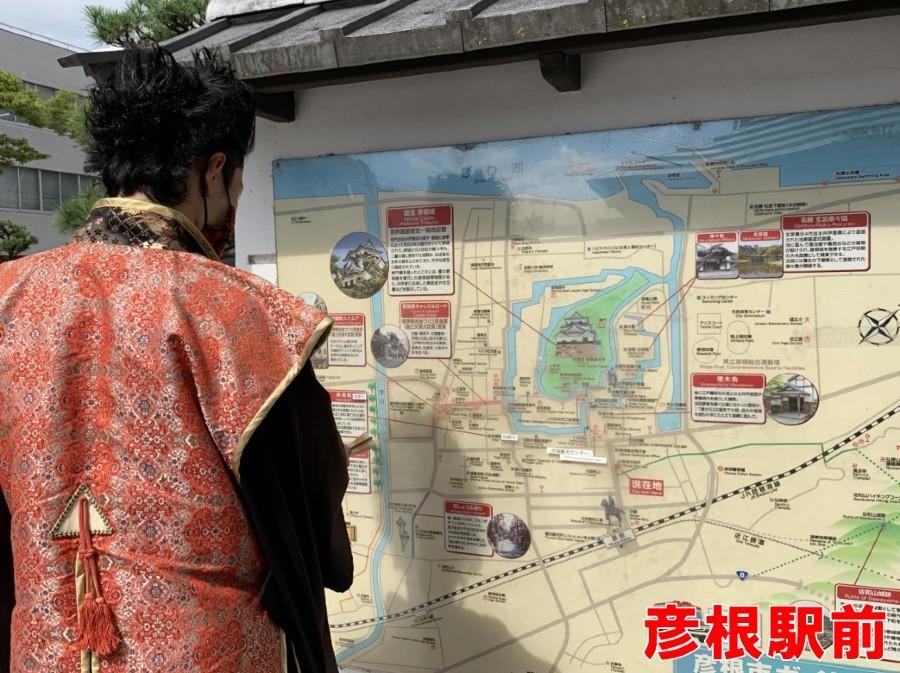 彦根城、前田慶次