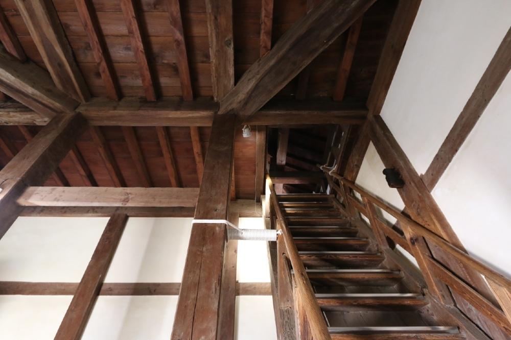 丸亀城、天守、階段