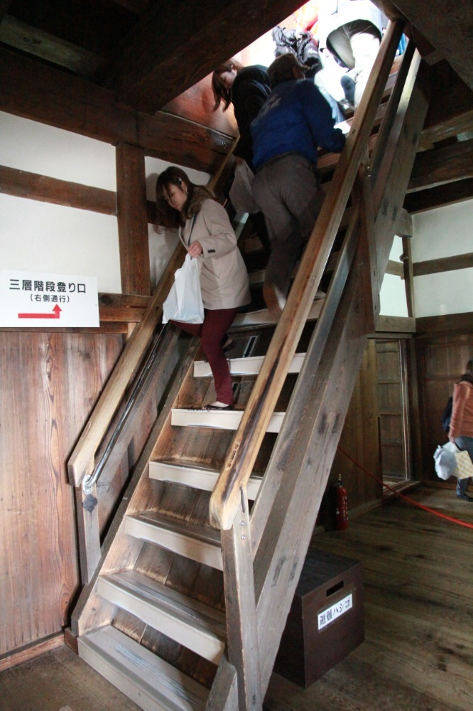 彦根城、天守、階段