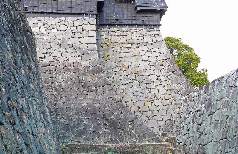 熊本城、石垣
