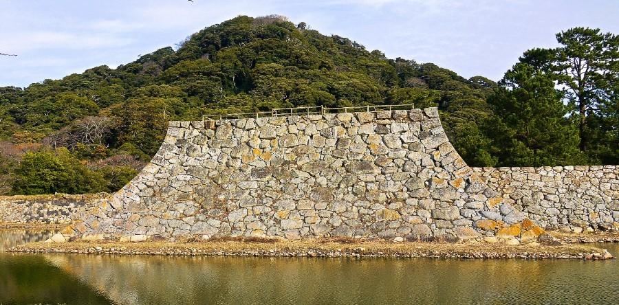 萩城、石垣