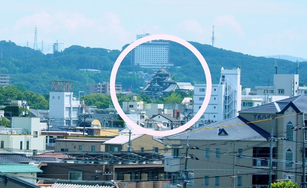 山陽新幹線、岡山城