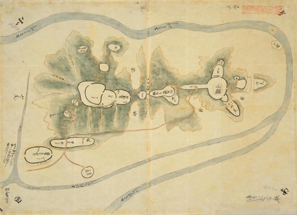 国会図書館蔵「日本古城絵図」相州津久井城