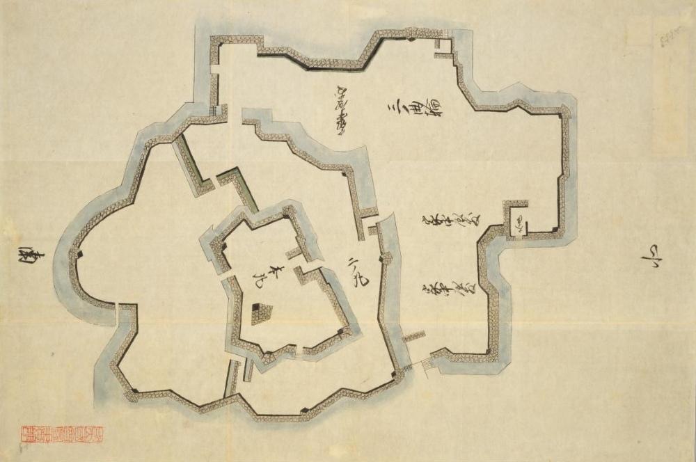 国会図書館蔵『日本古城絵図』赤穂城