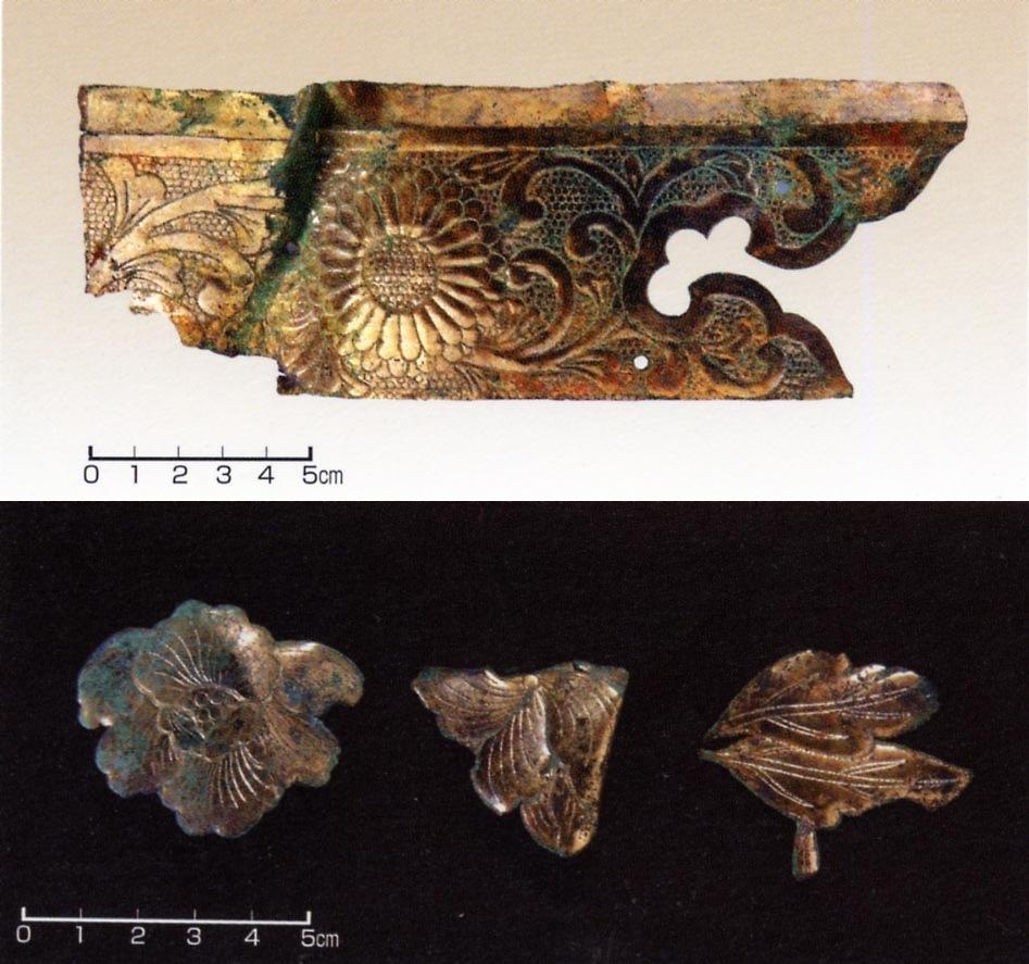 仙台城、金銅飾金具、銅製の釘
