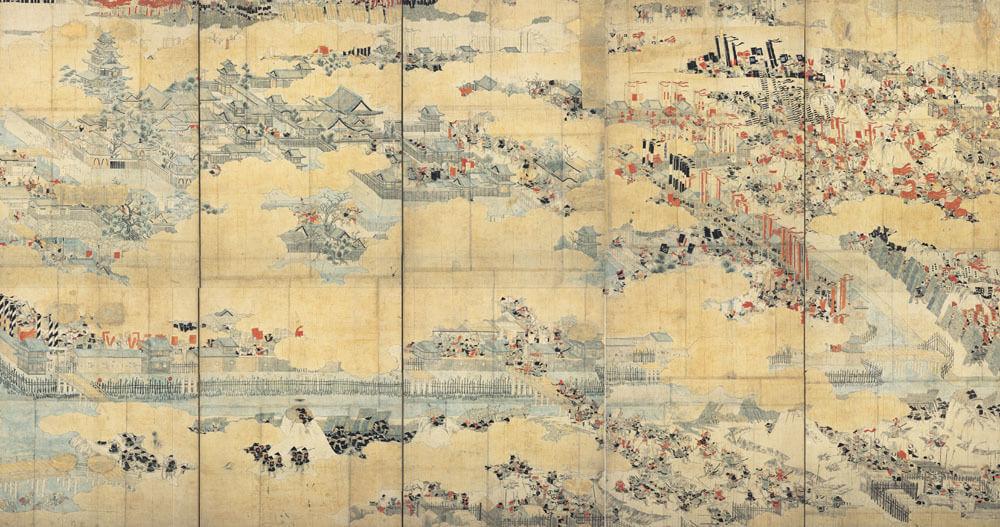 大坂冬の陣図屏風