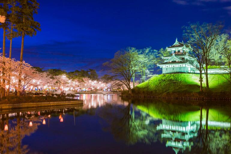 日本三大夜城、高田城