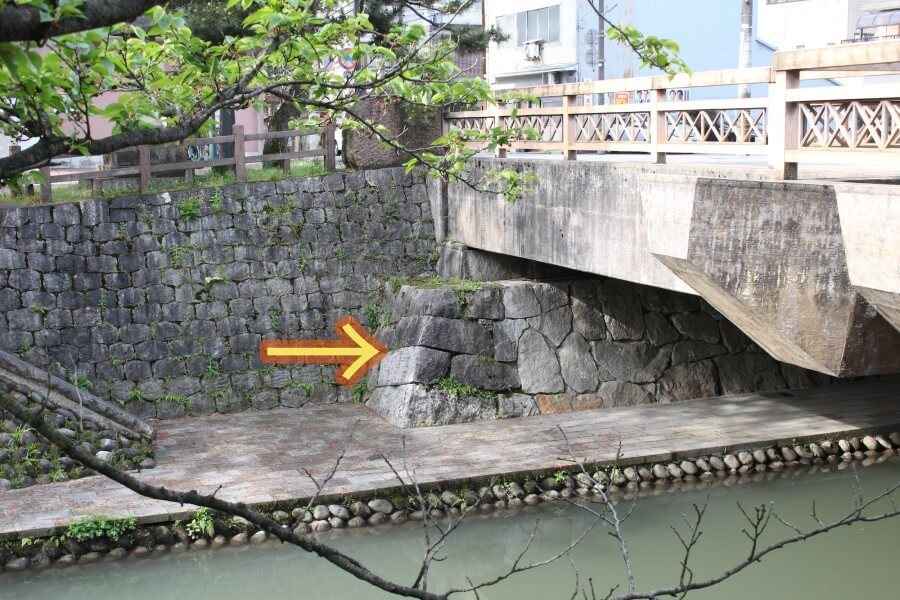 富山城、舟橋、石垣