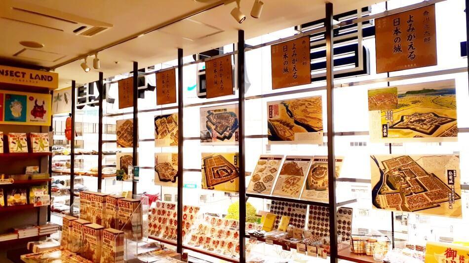 旭屋書店×歴史街道 行った気になる 日本の名城展、船橋店、香川元太郎
