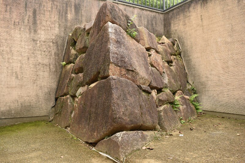 岡山城、石垣、宇喜多秀家時代