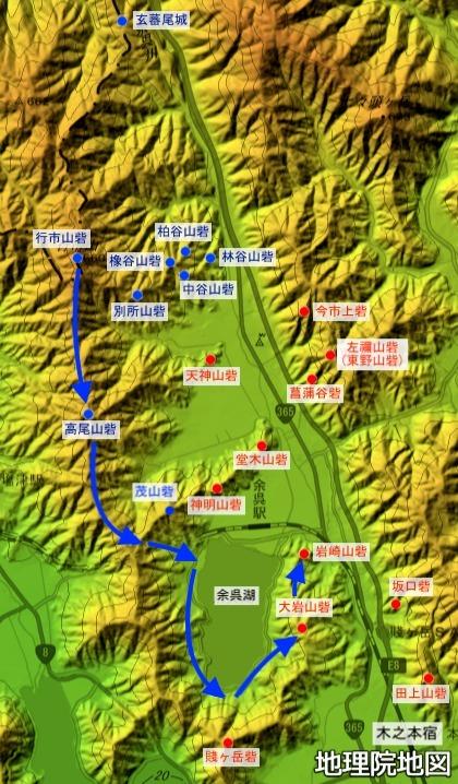 賤ヶ岳の戦い、陣城