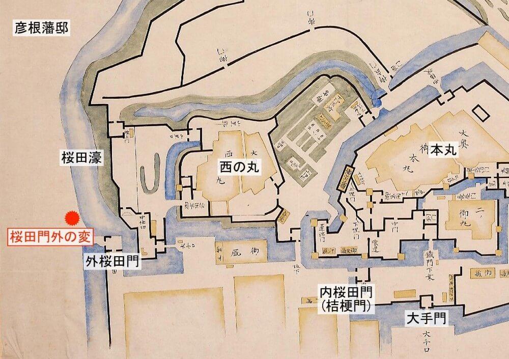 江戸城内の絵図