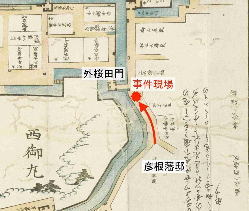 江戸城、彦根藩邸、外桜田門