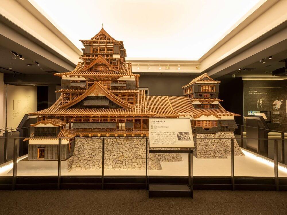 熊本城、天守閣、天守軸組模型