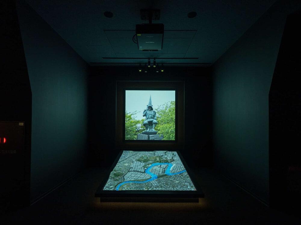 熊本城、天守閣、プロジェクションマッピング模型