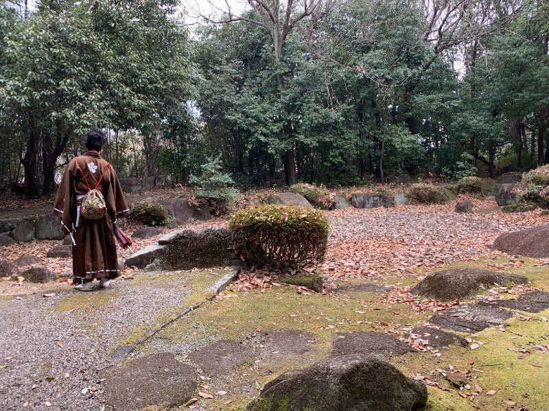 岩崎城、前田慶次、枯池