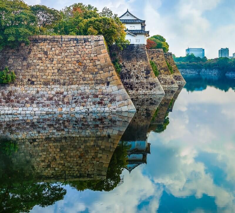 大阪城、水堀