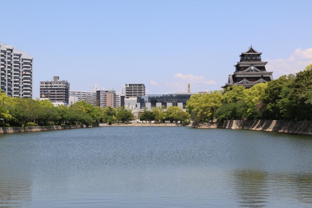 広島城、水堀