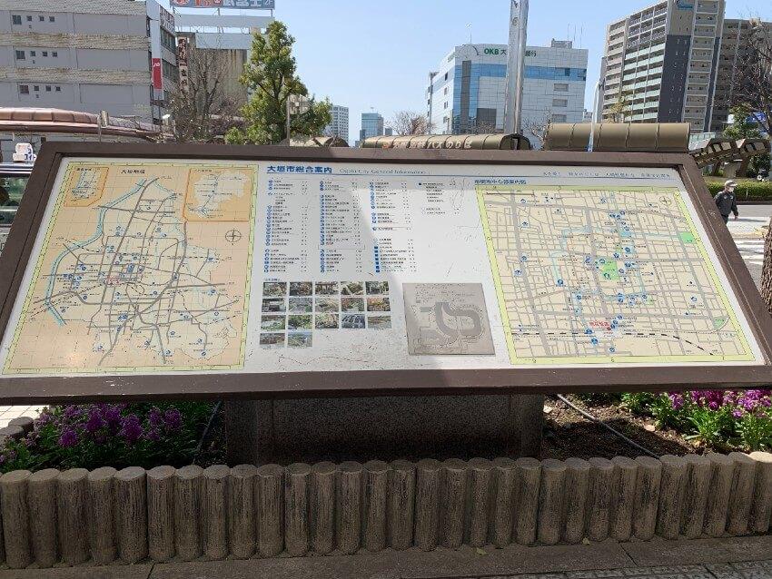 大垣城、地図