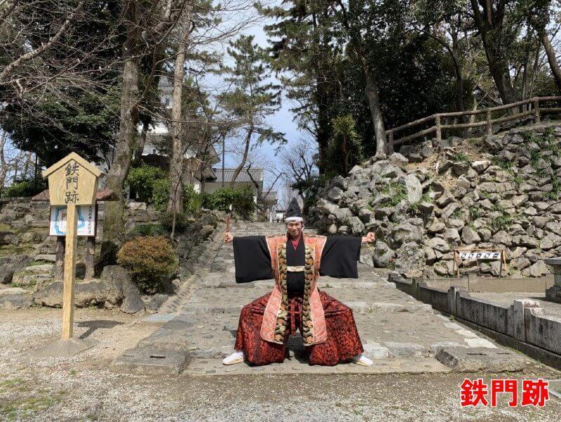 大垣城、鉄門跡