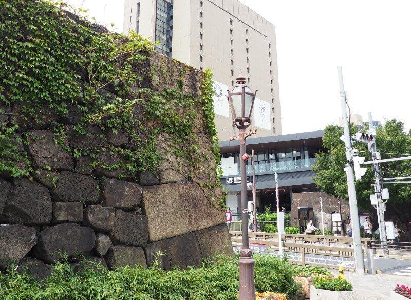 江戸城、牛込門の石垣