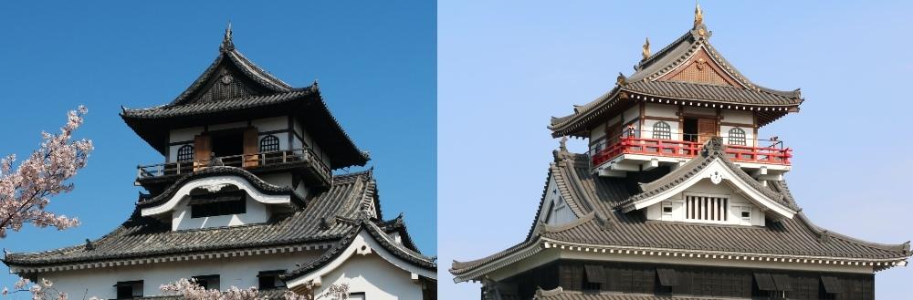 犬山城、清洲城