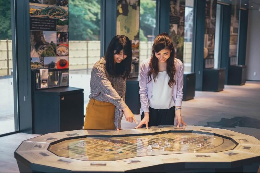 中津市歴史博物館、まちあるきジオラマ