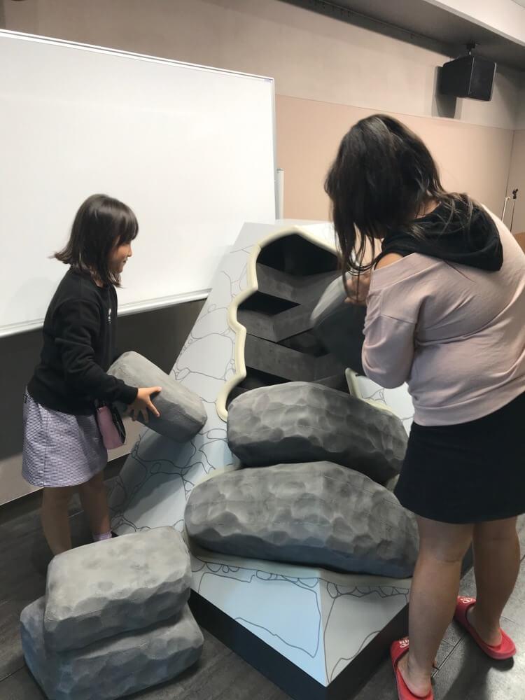 中津市歴史博物館、算木積み模型、プレイルーム
