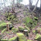 腰曲輪の石垣から見る本丸石垣