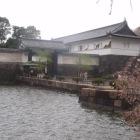 東日本大震災直後の大手門