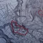 名胡桃城跡にある地図