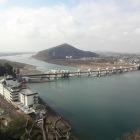 天守からの木曽川の眺め