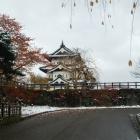 紅葉と初雪