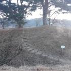 空堀から本丸への階段