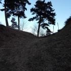 二の丸と本丸を隔てる空堀