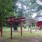 主郭部分に建つ稲荷神社