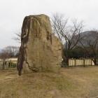 よく立てたな‼︎ 多分掘り出した自然石。