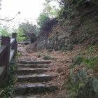 天狗岩への階段