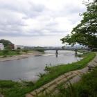 城址のそばを流れる阿武隈川