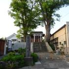 二階堂神社(本丸跡)と城址の石碑