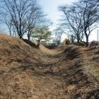 主郭の土塁と空堀(南側)