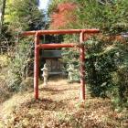 土塁上にある神田稲荷神社