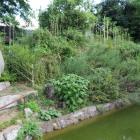 土塁と堀跡(神炊館神社)