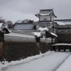 凍てつく橋爪門と続櫓、五十間長屋