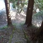 お寺方面への路