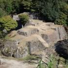 菱櫓跡からの大矢倉跡
