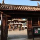 若宮八幡神社表門(本丸犬走門)両端には鯱も