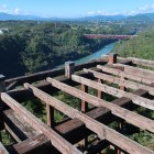 天守展望台から恵那峡方面を望む