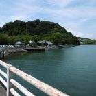 北を流れる助任川からの徳島城