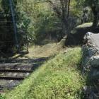 JR飯田線で分断された土塁